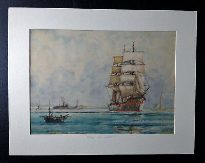 Maritime Watercolour Home At Last Charles F. Humphrey Sussex Brig