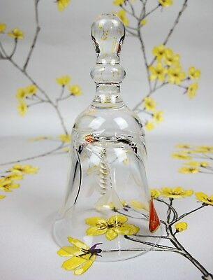 Lovely vintage Royal Brierley Cut Crystal Glass DINNER BELL. 12 cm