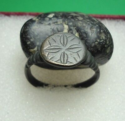 Ancient Roman Bronze Ring Original Authentic Antique Rare R104