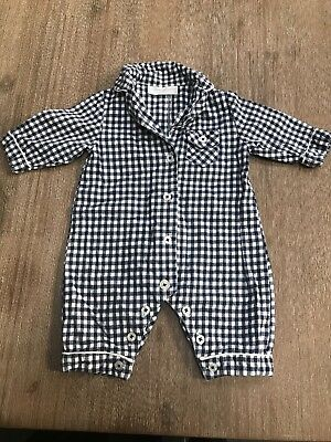 Little White Company Boys pajamas all in one. Size  0-3 months