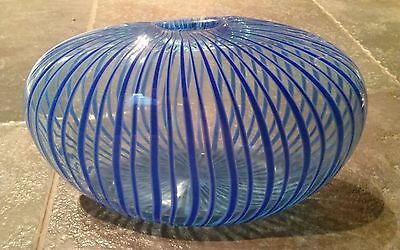 Peter Secrest Signed Art Glass Vase 2001