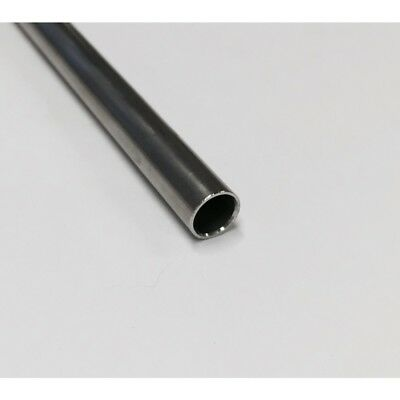 "Stainless Steel 316 Seamless Round Tubing, 1/4"" OD, 0.035 Wall, 12"""