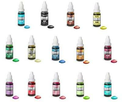 Rainbow Dust Colour Flo Concentrated Liquid Food Air Brush Colouring (Set of 14)