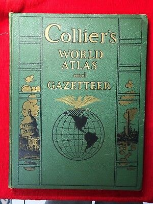 1941 Collier's World Atlas and Gazetteer (WWII) RARE