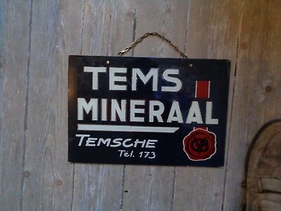Tems mineraal glasoide sign reclame not new old Temsche glass