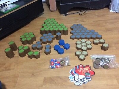 Huge Heroscape Terrain Plastic Hex and extra stuff Lot