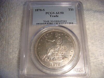1878-S Trade Dollar Pcgs Au50 Looks Much Better