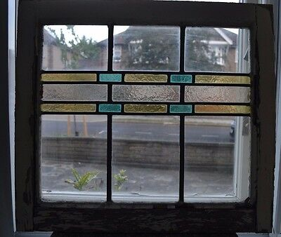 English leaded light stained glass window. B580. MULTIPLE DELIVERY OPTIONS!!!