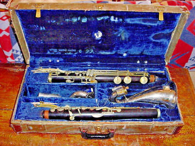 Vintage Linton Wood Bass Clarinet Mid Century Paris Usa  France