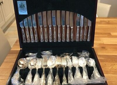 Arthur Price Silver Plated Canteen Of Cutlery 8 Place Setting EPNS A1 58 Piece