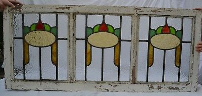British leaded light stained glass window. R733. WORLDWIDE SHIPPING!!!