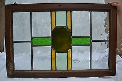 Leaded stained light glass window for above door R573. WORLDWIDE DELIVERY!!!