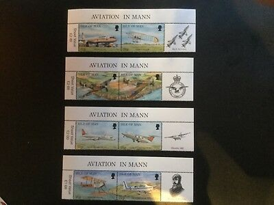 1997 Manx aircraft stamps from sheetlets.