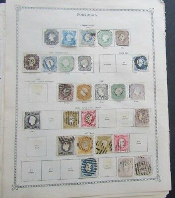 Portugal - Vintage Collection On Album Pages - Unchecked
