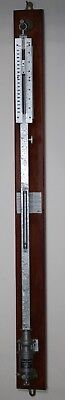 Vintage Fortin.Metal stick barometer.By ON.Sceintific instrument.No outer case.