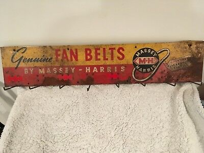 Massey Harris Dealer Fan Belt Rack