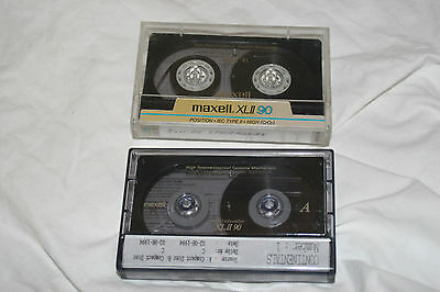 MAXELL XLII 90  x 2 used condition XLII-90 XLII90 recording cassette cassettes