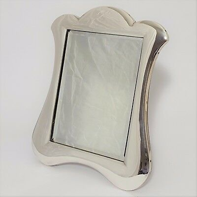 Large Antique Silver Easel Dressing Table Mirror 1908