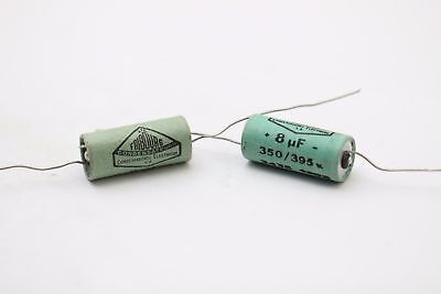 ELECTROLYTIC CAPACITOR FRIBOURG 8uF 350V NOS (NEW OLD STOCK) 2PC EST1U118F261016