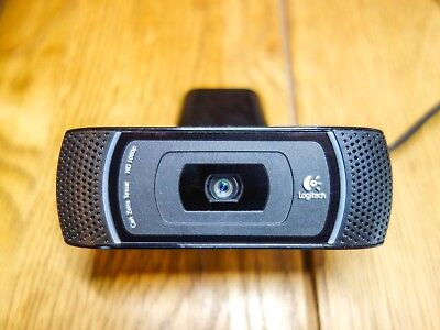 Logitech C910 HD Webcam with Carl Zeiss Lens B910. 1080p / 720p. Excellent Cond.