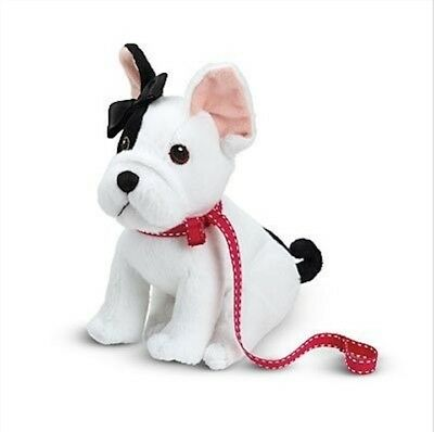 Retired American Girl Goty Grace's French Bulldog BonBon new NIB bow leash plush