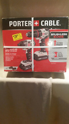 PORTER-CABLE 2-Tool 20-Volt Max Lithium Ion Brushless Cordless Combo Kit