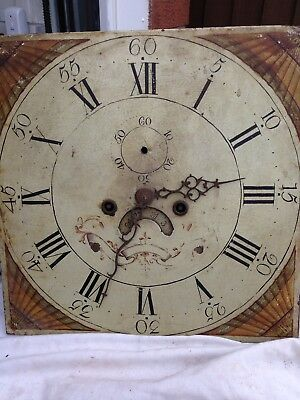 Eight day Longcase clock  Dial And Movement