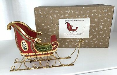 Patience Brewster Med. Dash Away Sleigh, Out Of Stock On PB Website, 6 x 9, MIB
