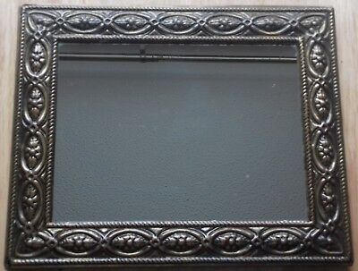 Vintage Lombard London Mirror with Moulded Metal Frame