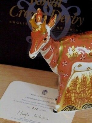 RCD Prong-Horned Antelope Paperweight, Special Pre-launch Ltd. Ed. 272/950 Cert