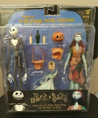 NECA Tim Burton's The Nightmare Before Christmas Jack and Sally Figures NIB