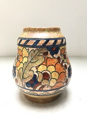 Signed Charlotte Rhead Pottery Crown Ducal Vase. Are Deco. Byzantine