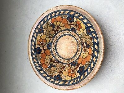 Signed Charlotte Rhead Pottery Crown Ducal Pottery Dish. Art Deco 1930