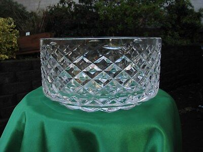 Rare vintage Irish ( waterford Crystal large bowl centre piece) Look tyrone