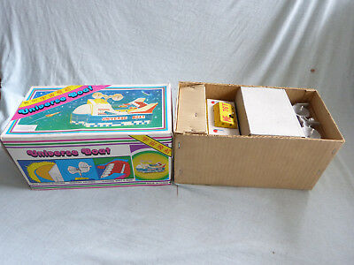 Red China ME 767 Universe Boat Battery Operated Blech Tin Toy 80er Jahre Ovp