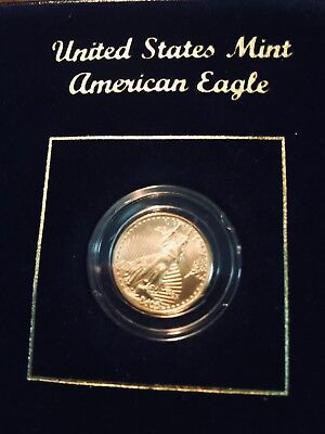 2001 1/10 oz Gold American Eagle Mint uncirculated 91% GOLD 3%FINE SILVER