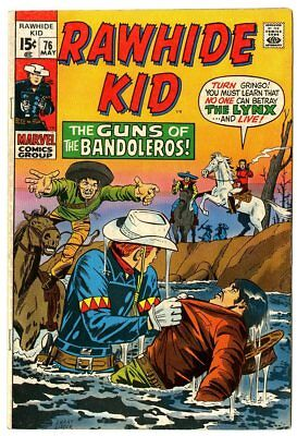 Rawhide Kid #76 VF+ 8.5 white pages  Marvel  1970  No Reserve