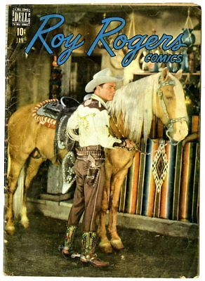 Roy Rogers Comics #13 VG 4.0 off-white pages  Photo Cover  Dell 1949  No Reserve