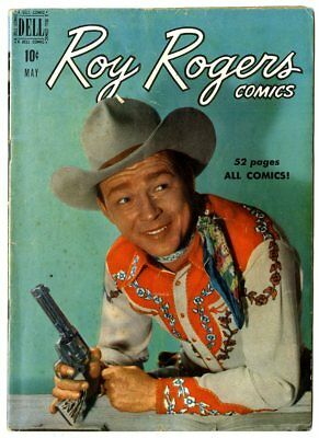 Roy Rogers Comics #29 VG/FN 5.0 white pages  Photo Cover  Dell 1950  No Reserve