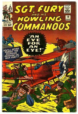 Sgt. Fury #19 VF 8.0 white pages  An Eye For an Eye!  Marvel  1965  No Reserve