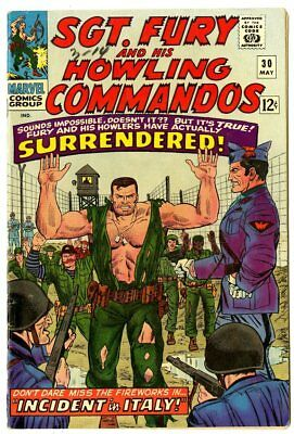 Sgt. Fury #30 VF 8.0 white pages  Marvel  1966  No Reserve