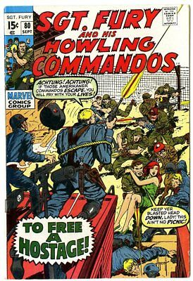 Sgt. Fury #80 FN+ 6.5 ow/white pages  Marvel  1970  No Reserve