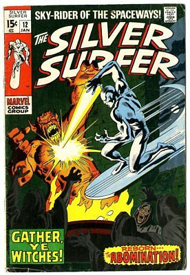 Silver Surfer #12 G+ 2.5 off-white pages  Marvel  1970  No Reserve