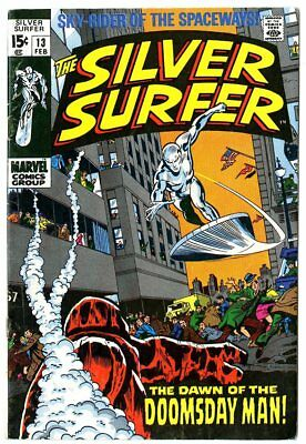 Silver Surfer #13 VG+ 4.5 ow/white pages  Marvel  1970  No Reserve