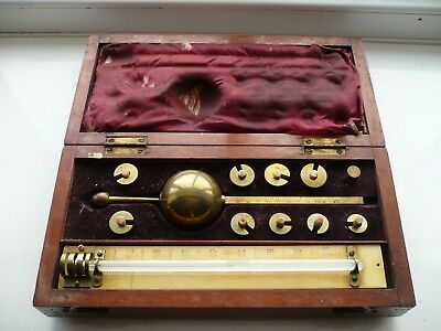 Antique (?) Sikes Hydrometer  Sykes Hydrometre and case