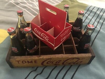 Coca Cola Mini Glass Tome Crate Lot