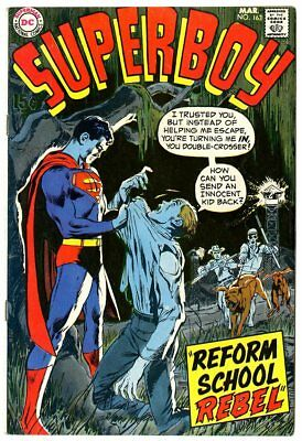 Superboy #163 VF/NM 9.0 ow/white pages  DC  1970  No Reserve