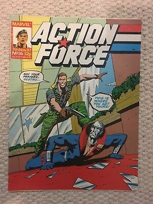 Action Force UK Comic No.36 Great Condition G.I JOE