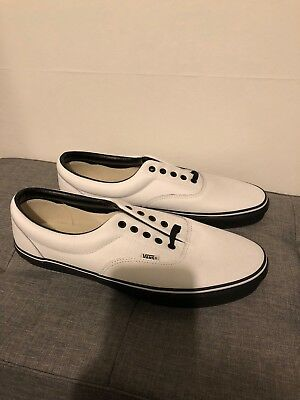 NEW Vans Authentic Custom Shoes White Leather Men UK 14