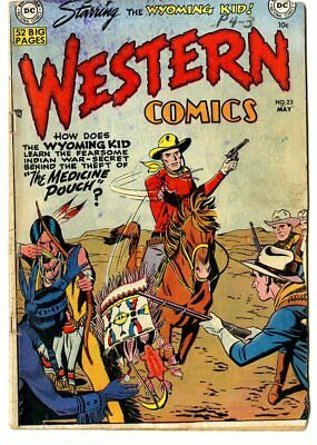 Western Comics #23 VG 4.0 off-white pages  Wyoming Kid  DC  1951  No Reserve